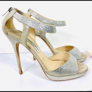 Champagne Jimmy Choo With Crystals 👠 size 40